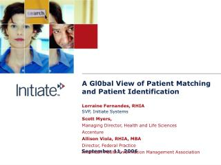 A Gl0bal View of Patient Matching and Patient Identification
