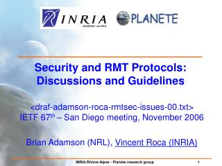 Security and RMT Protocols: Discussions and Guidelines