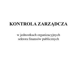 KONTROLA ZARZADCZA