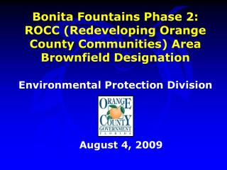 Environmental Protection Division August 4, 2009