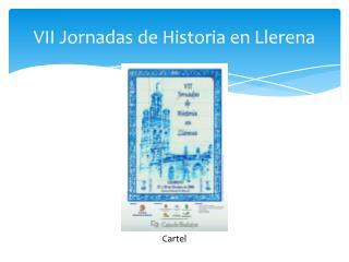 VII Jornadas de Historia en Llerena