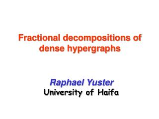 Fractional decompositions of dense hypergraphs