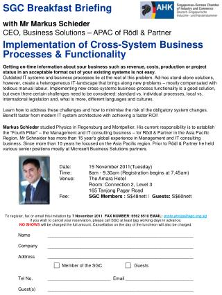 Implementation of Cross-System Business Processes & Functionality