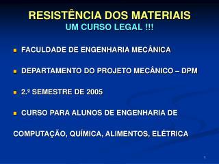 RESIST NCIA DOS MATERIAIS UM CURSO LEGAL