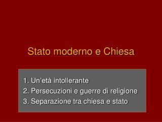 Stato moderno e Chiesa