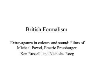 British Formalism
