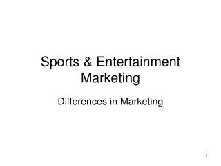 Sports  Entertainment Marketing
