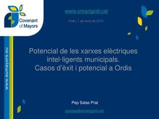 Potencial de les xarxes elèctriques intel·ligents municipals.  Casos d ' èxit  i potencial a Ordis