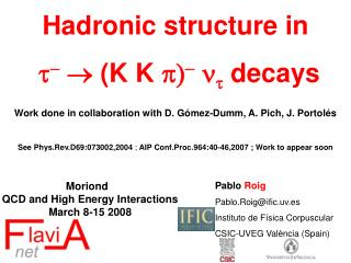 Hadronic structure in t -   (K K  p) - n t  decays