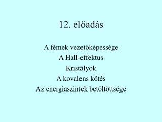 12. előadás