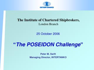 The Institute of Chartered Shipbrokers, London Branch