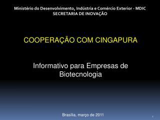 Ministério do Desenvolvimento, Indústria e Comércio Exterior - MDIC SECRETARIA DE INOVAÇÃO