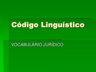 Código Linguístico
