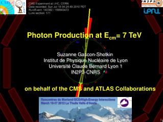 Photon Production at E cm = 7 TeV