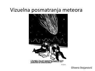 Vizuelna posmatranja meteora