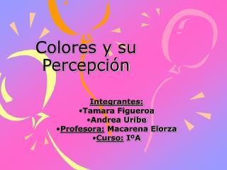 Colores y su Percepci�n