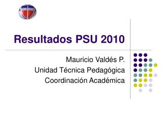 Resultados PSU 2010