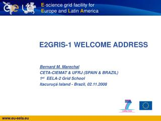 E2GRIS-1 WELCOME ADDRESS