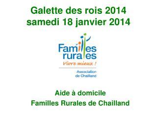 Galette des rois 2014 samedi 18 janvier 2014