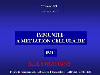 IMMUNITE  A MEDIATION CELLULAIRE