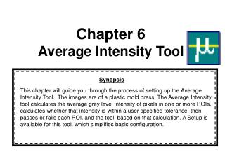 Chapter 6 Average Intensity Tool