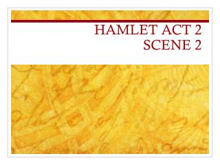 a review of act i and act ii of the play hamlet Included in this guide to shakespeare's hamlet are act-by-act synopses, discussion questions, student activities, and writing topics your students will enjoy this tragic play of revenge and familial relationships.