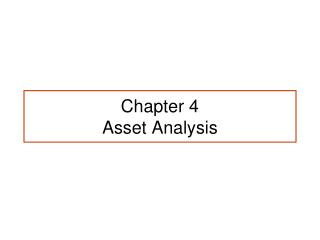 Chapter 4 Asset Analysis