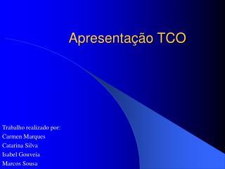 Apresentação TCO