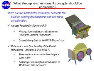 What atmospheric instrument concepts should be considered?