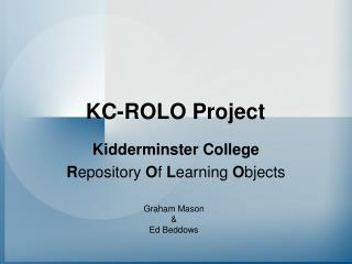 KC-ROLO Project
