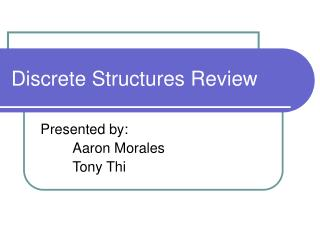 Discrete Structures Review