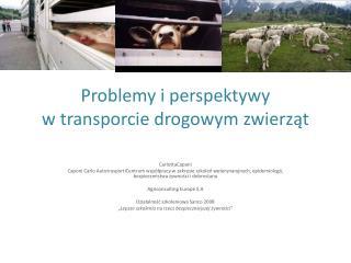 Problemy  i perspektywy                             w  transporcie drogowym  zwierząt