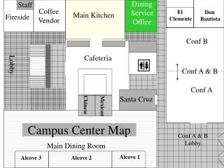 Campus Center Map
