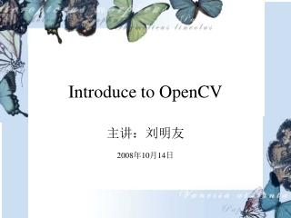 Introduce to OpenCV
