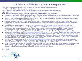 US Fish and Wildlife Service Hurricane Preparedness