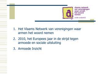 Het Vlaams Netwerk van verenigingen waar armen het woord nemen