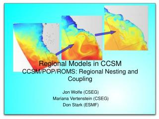Regional Models in CCSM CCSM/POP/ROMS: Regional Nesting and Coupling