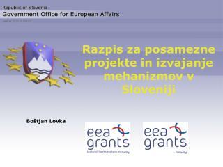 Razpis za posamezne projekte in izvajanje mehanizmov v Sloveniji