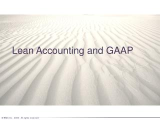 Lean Accounting and GAAP