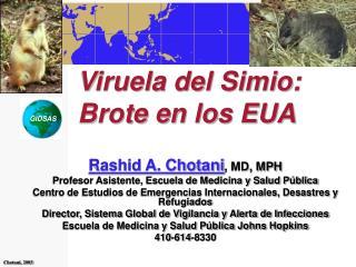 Viruela del Simio: Brote en los EUA