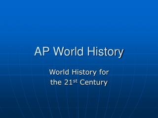AP World History