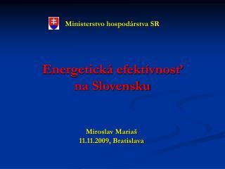Energetická efektívnosť          na Slovensku