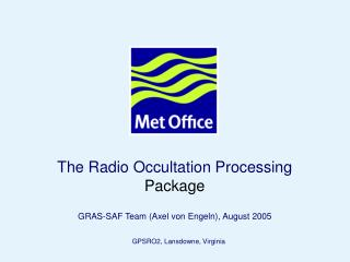 The Radio Occultation Processing  Package
