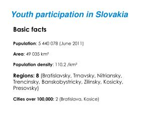 Youth participation in Slovakia