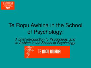 Te Ropu Awhina in the School of Psychology: