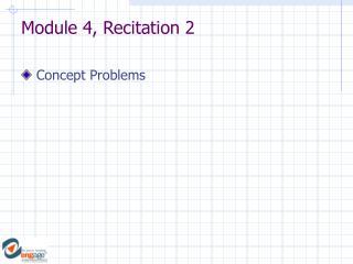 Module 4, Recitation 2