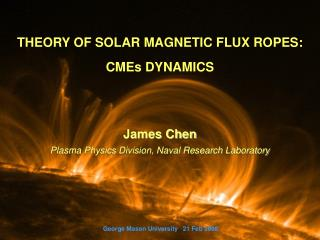 THEORY OF SOLAR MAGNETIC FLUX ROPES: CMEs DYNAMICS