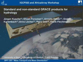 IGCP565 and AfricaArray Workshop