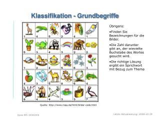 Klassifikation - Grundbegriffe
