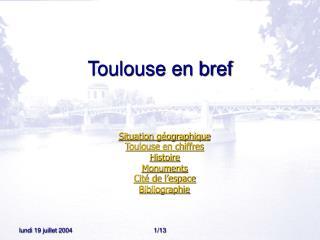 Toulouse en bref